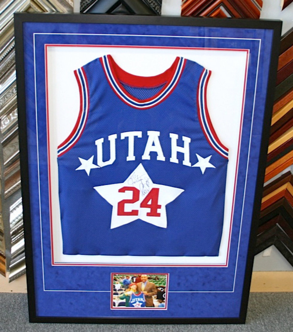 How To Frame A Jersey >> Frame It Custom Framing Salt Lake City Utah Jersey Framing